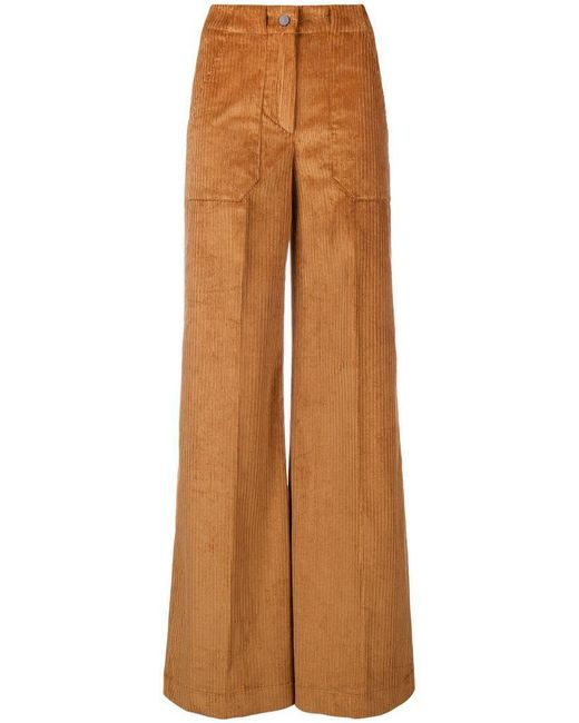 L'Autre Chose - Brown Flared Suit Trousers - Lyst