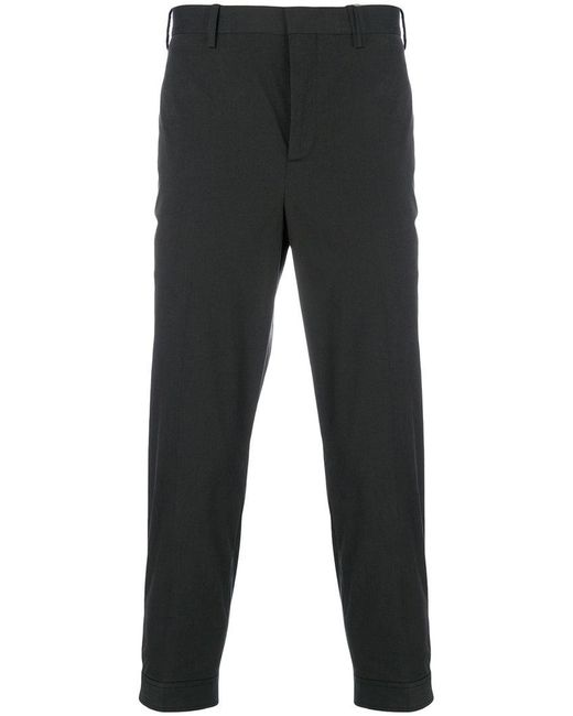 Neil Barrett - Black Cropped Trousers for Men - Lyst
