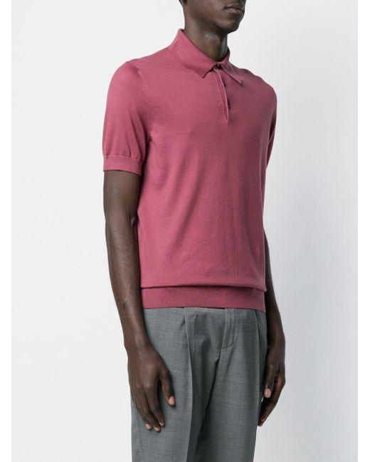 389931e9 Ermenegildo Zegna Mm Polo Shirt in Pink for Men - Lyst