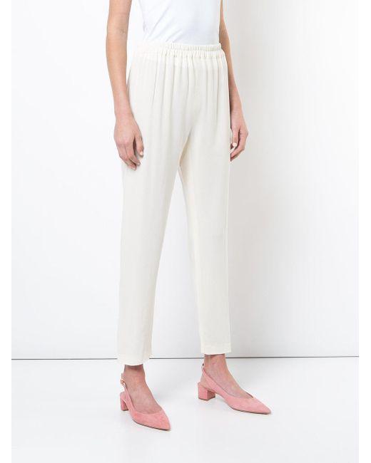cropped trousers - White Mansur Gavriel 641EfL8e