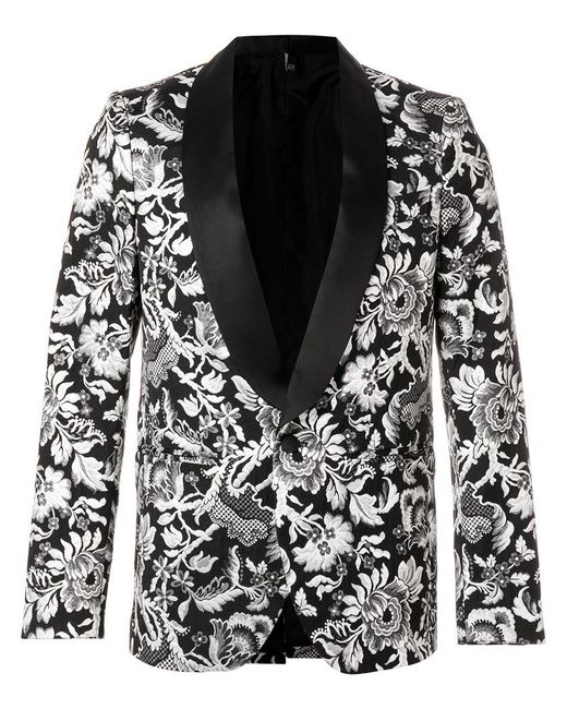 Christian Pellizzari - Black Brocade Smoking Jacket for Men - Lyst