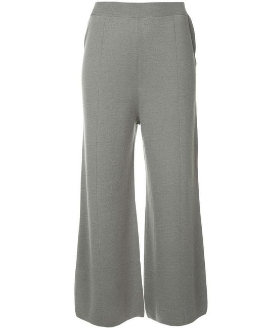 G.v.g.v - Gray Milano Ribbed Bow Knot Back Trousers - Lyst