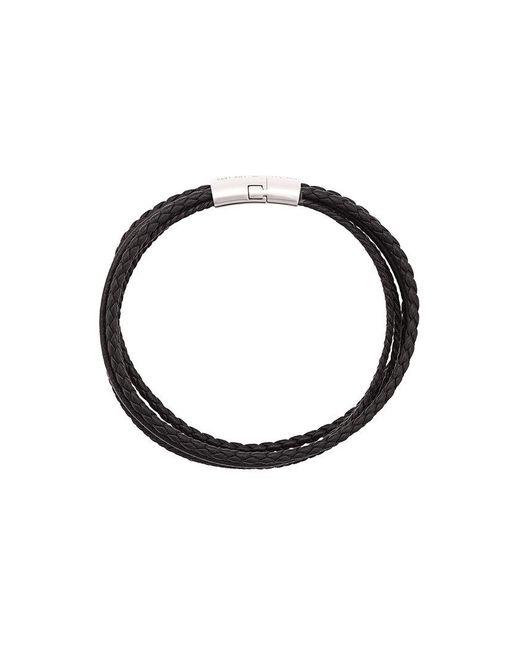 Tateossian | Black Cobra Leather Bracelet for Men | Lyst