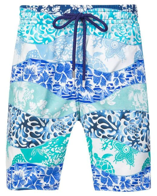231e20daa4 Vilebrequin - Blue Printed Swim Shorts for Men - Lyst ...