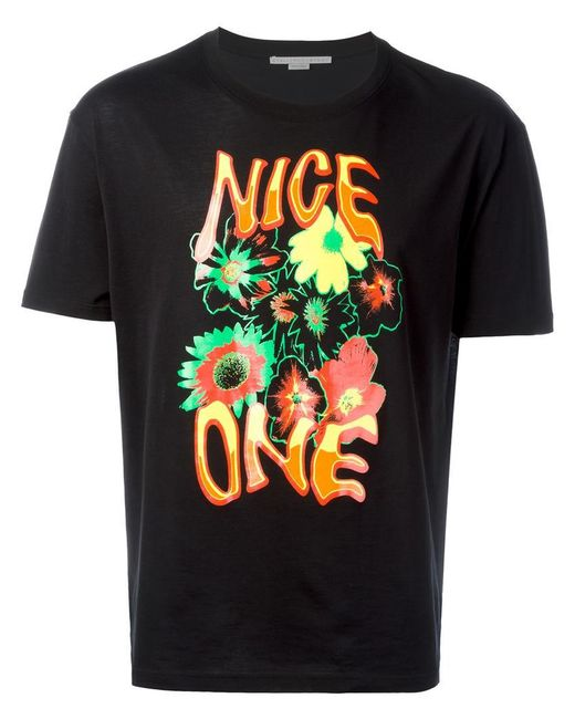 Stella McCartney - Black Nice One T-shirt for Men - Lyst