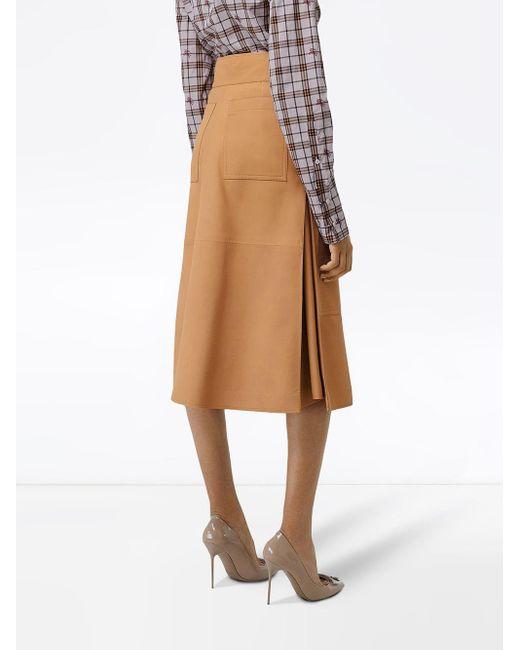 9b73641ed6 ... Burberry - Multicolor Lambskin High-waisted Skirt - Lyst