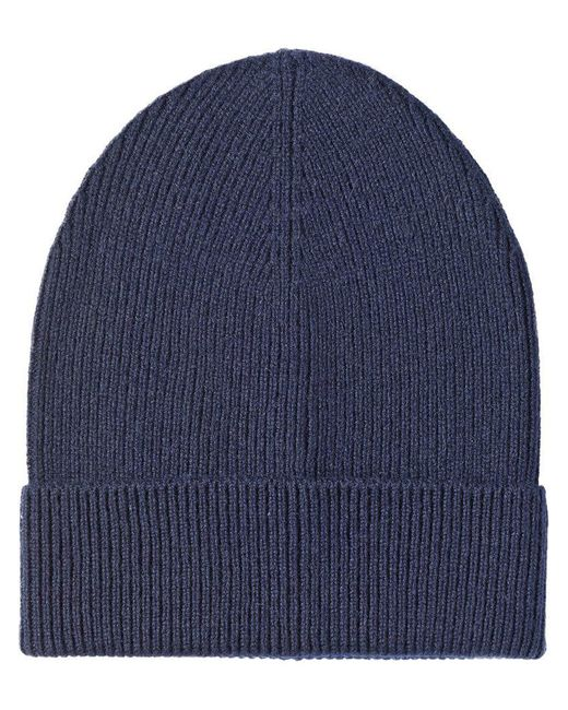 Prada - Blue Cashmere Rolled Beanie for Men - Lyst