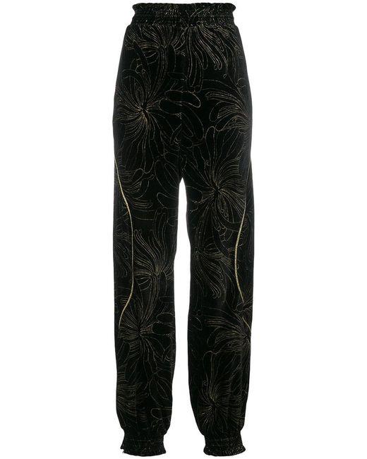 Chloé - Black Floral Track Pants - Lyst