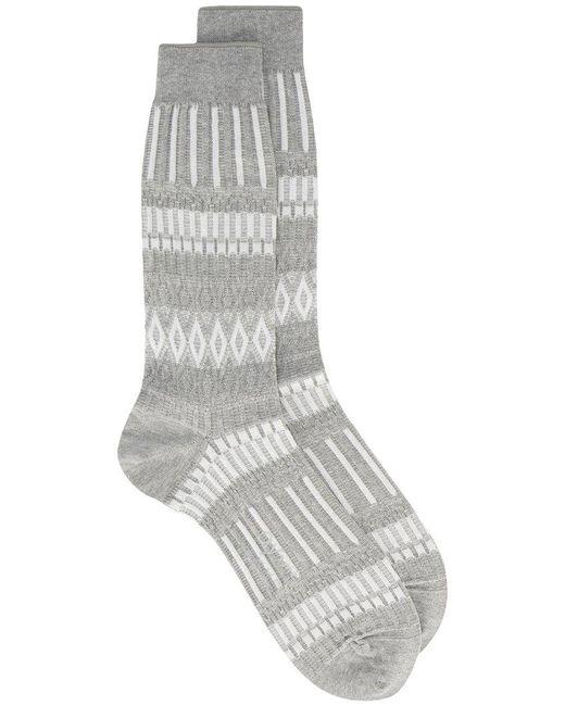 Ayamé - Gray Grey Basket Lunch Patterned Socks for Men - Lyst