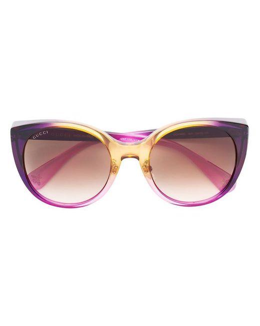 682ef8dffc Gucci - Brown Cat Eye Sunglasses - Lyst ...