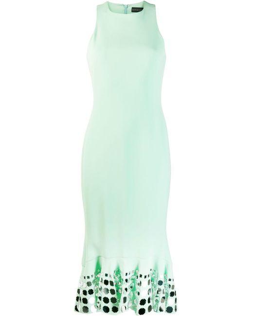 David Koma - Green Embellished Midi Dress - Lyst