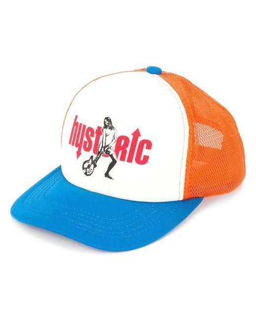 Hysteric Glamour - Blue Colour-block Logo Cap for Men - Lyst