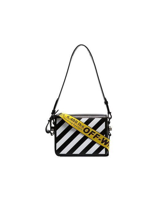 1027428cbfac Lyst - Off-White c o Virgil Abloh Striped Tape Shoulder Bag in Black ...