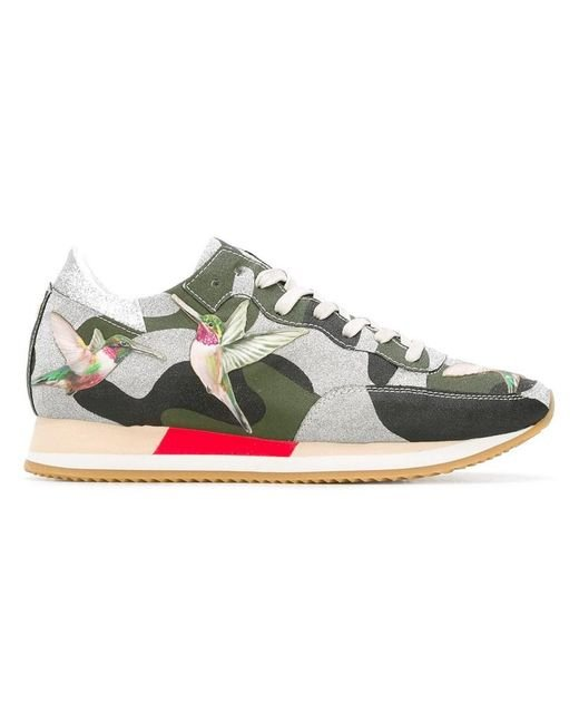 Philippe model Camouflage print sneakers TXHHQSzp