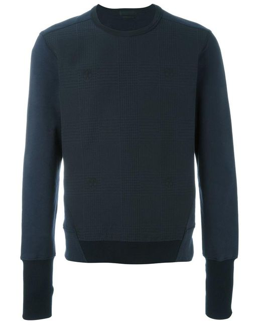 Alexander McQueen - Blue Herringbone Skull Print Sweatshirt for Men - Lyst