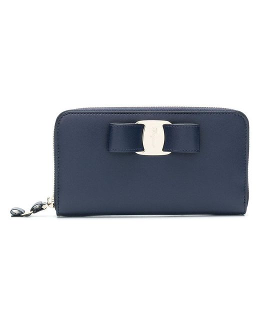 Ferragamo - Blue Vara Rainbow Wallet - Lyst