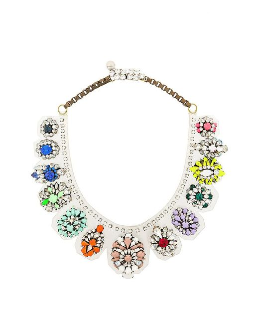 Shourouk - Multicolor Rainbow Necklace - Lyst