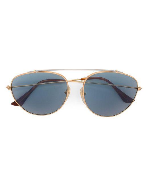 Retrosuperfuture - Metallic Aviator Sunglasses - Lyst
