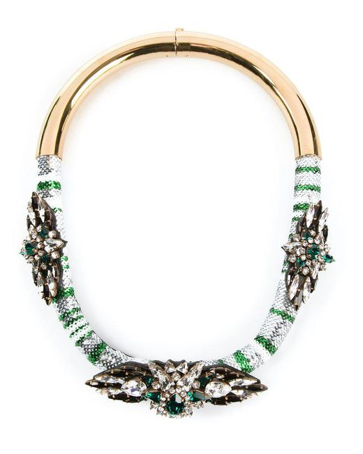 Shourouk - Metallic 'mamba' Necklace - Lyst