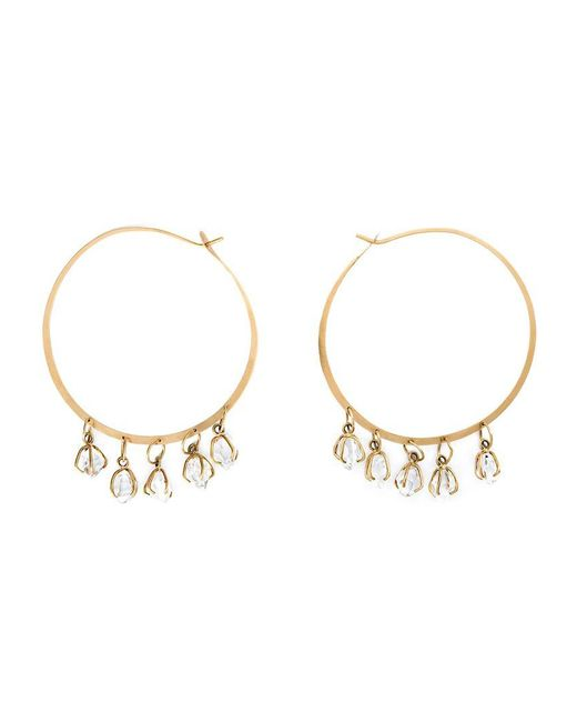 Melissa Joy Manning | Metallic Herkimer Diamond Hoop Earrings | Lyst