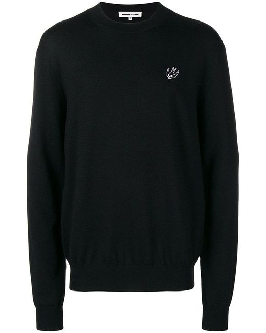 McQ Alexander McQueen - Black Ribbed Sweater for Men - Lyst
