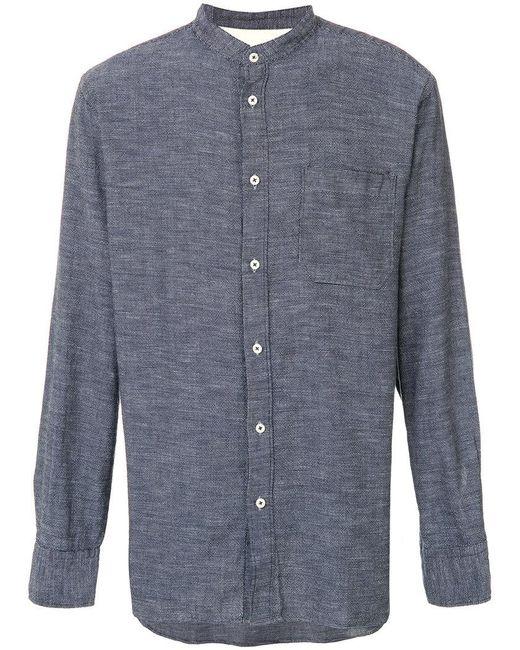 Universal Works   Blue Stoke Shirt for Men   Lyst