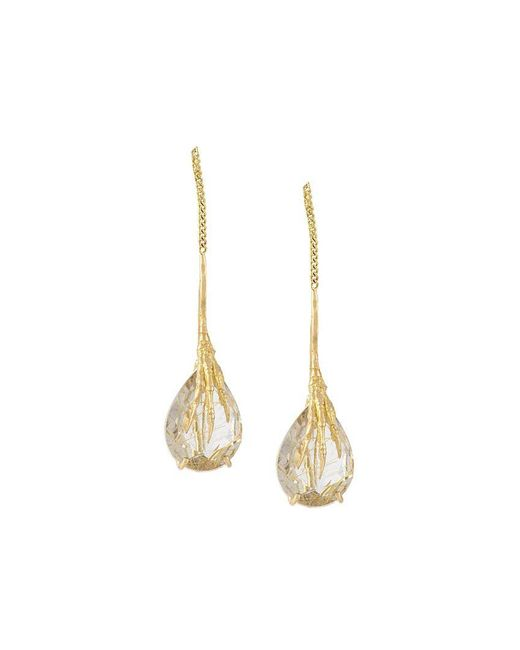 Wouters & Hendrix - Metallic 'crow's Claw' Rutilated Quartz Earrings - Lyst