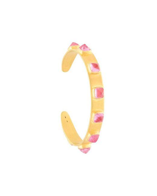 Marie-hélène De Taillac - Pink 22kt Gold Spiked Bracelet - Lyst