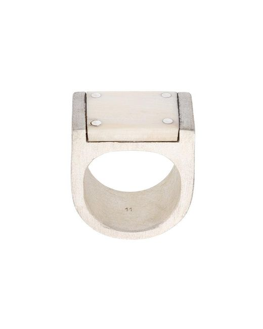 Parts Of 4 - Metallic Plate Ring for Men - Lyst