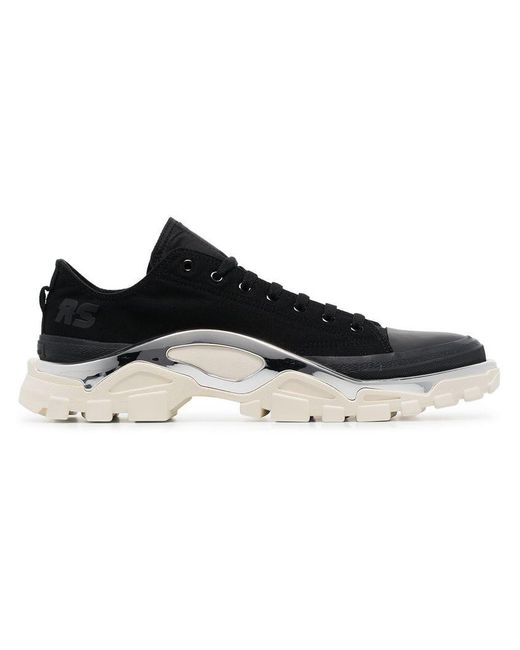 official photos 77dd7 8abc8 Adidas By Raf Simons - Black Detroit Runner Sneakers - Lyst ...