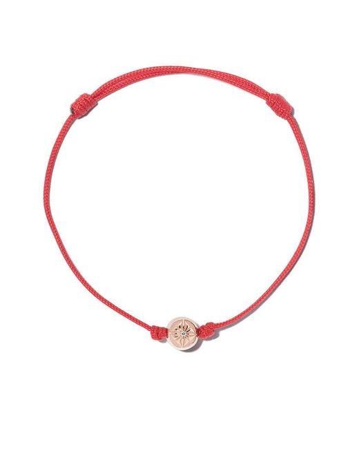 Shamballa Jewels - Red 18kt Rose Gold & White Diamond Orb Charm Bracelet - Lyst