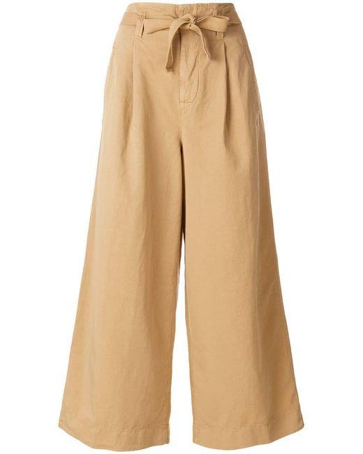 Incotex - Natural Tie Waist Wide Leg Trousers - Lyst