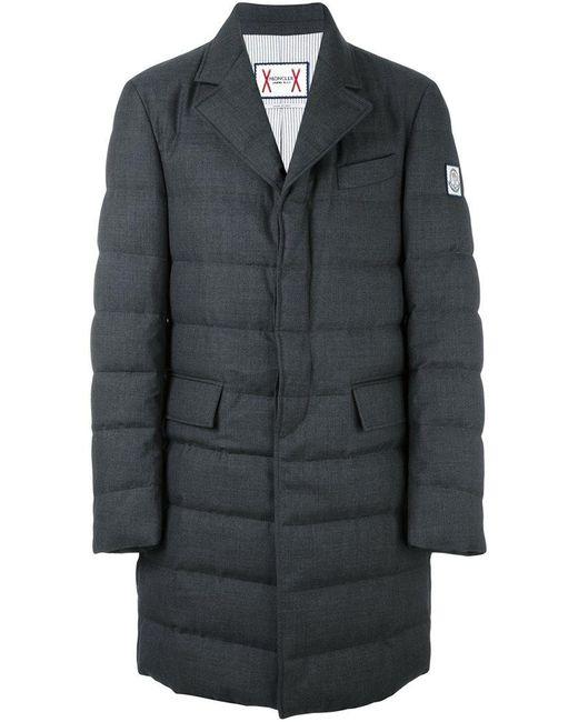 Moncler Gamme Bleu | Gray Peaked Lapels Padded Coat for Men | Lyst