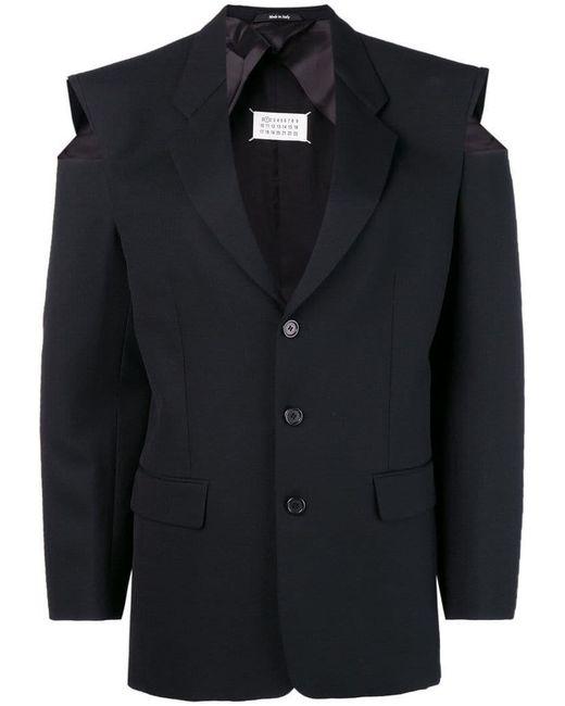 Maison Margiela - Black Cut-out Shoulder Blazer - Lyst