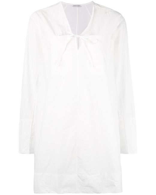 Tomas Maier - White V-neck Tunic Dress - Lyst