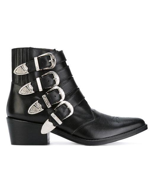 Toga Pulla - Black Multi Straps Boots - Lyst