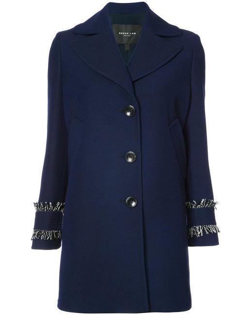 Derek Lam | Blue Single Breasted Coat | Lyst