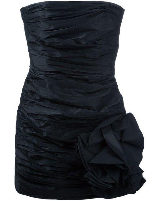 Faith Connexion - Black Strapless Ruched Dress - Lyst