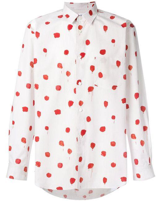 Comme des Garçons - White Paint Splash Shirt for Men - Lyst
