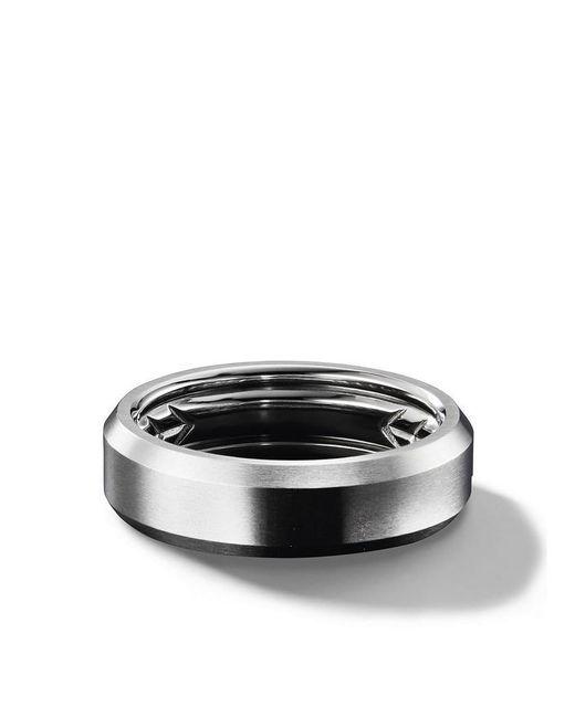 David Yurman - Black Beveled Band Ring for Men - Lyst