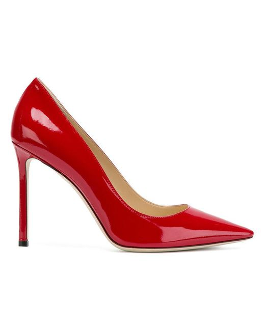 Jimmy Choo - Red 'romy 100' Pumps - Lyst
