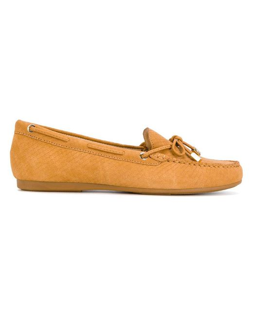 MICHAEL Michael Kors | Brown Textured Loafers | Lyst