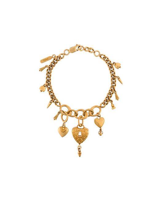Chloé - Metallic Collected Hearts Bracelet - Lyst