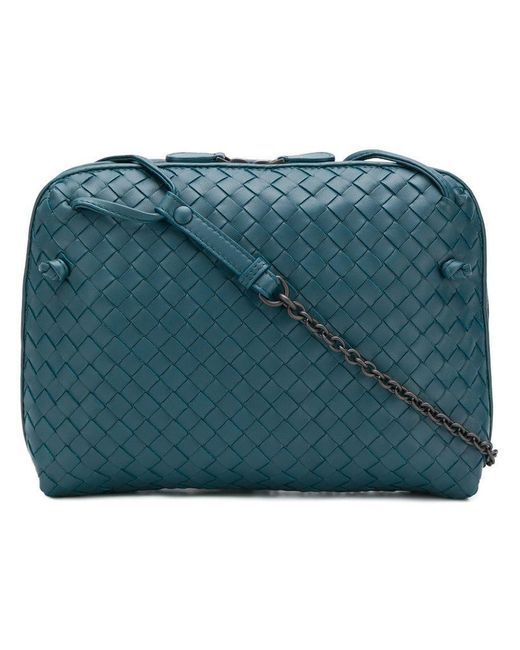 5172f299cc Bottega Veneta - Blue Nodini Crossbody Bag - Lyst ...