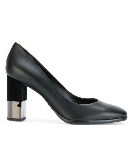 Baldinini - Black Mirrored Heel Pumps - Lyst