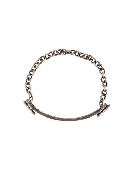 M. Cohen - Metallic Armband mit Schild for Men - Lyst