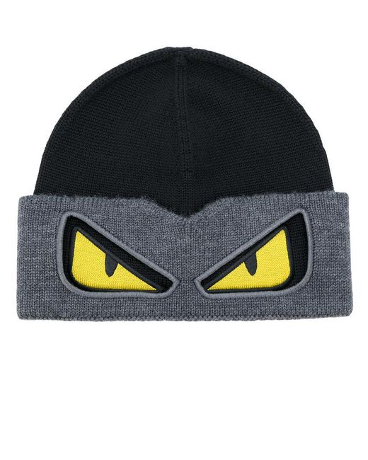 Fendi - Black Bag Bugs Beanie for Men - Lyst