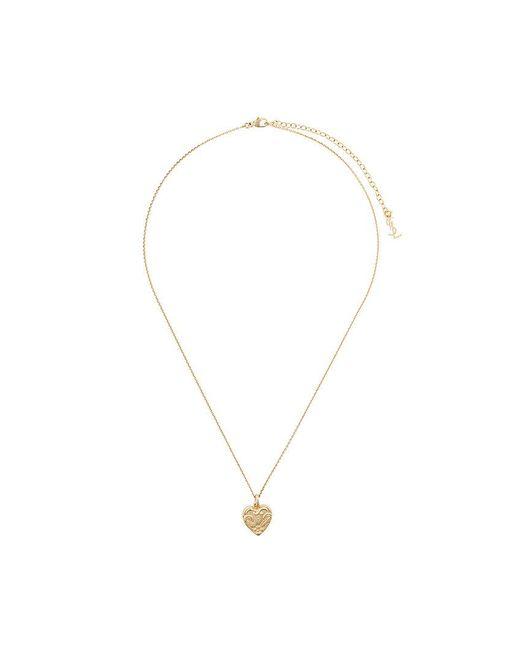 Saint Laurent - Metallic Charm Heart Necklace - Lyst