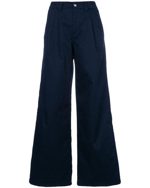 Societe Anonyme - Blue Long Wide Leg Trousers - Lyst
