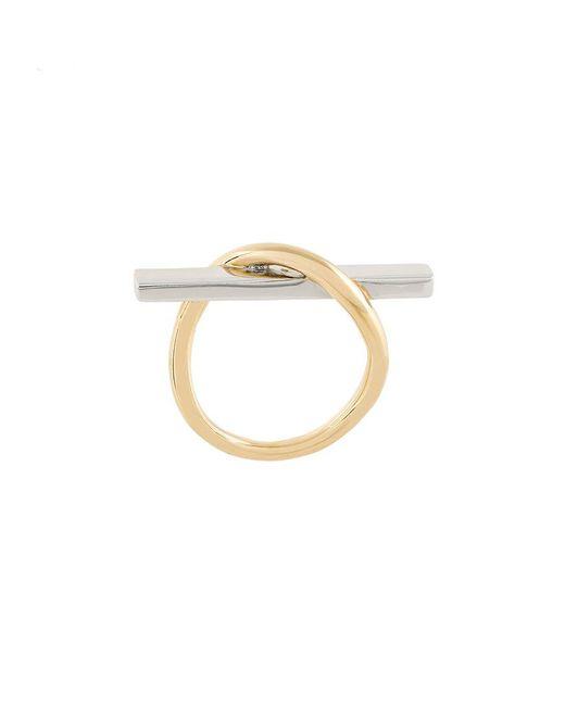Eshvi | Metallic Crossed Ring | Lyst
